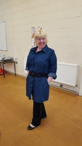 Denim shirt dress a student has made herself