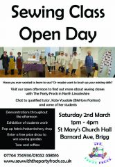 Sewing Class Open Day